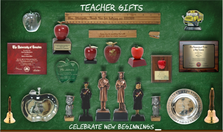 Teacher Appreciation & Scholastic Awards and Trophies by Monarch Trophy Studio San Antonio