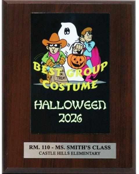Halloween Group Costume Plaque