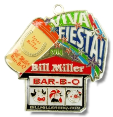 2014 Bill Millers Bar b q Fiesta Medal