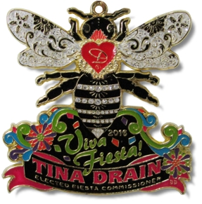2016 Fiesta Commissioner Tina Drain Award Winning Fiesta Medal by MTSawards.com