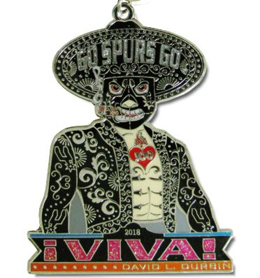 2018 Go Spurs Mariachi Custom Fiesta Medal by Monarch Trophy Studio and Fiestamedalssa