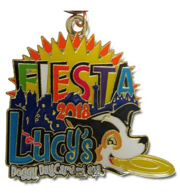 2018 Lucys Doggy Day Care and Spa Custom Fiesta Medal by MTSawards.com and FiestaMedalsSA.com