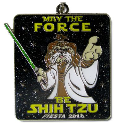 2018 May the Force be Shih Tzu Custom Fiesta Medal by Monarch Trophy Studio & Awards and Fiesta Medals SA