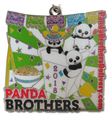 2018 Panda Brothers Delivery Custom Fiesta Medal by Monarch Trophy Studio San Antonio and Fiesta Medals SA