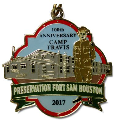 2018 Preservation Fort Sam Houston Camp Travis Anniversary Custom Fiesta Medal by Monarch Trophy & Fiesta Medals SA.com