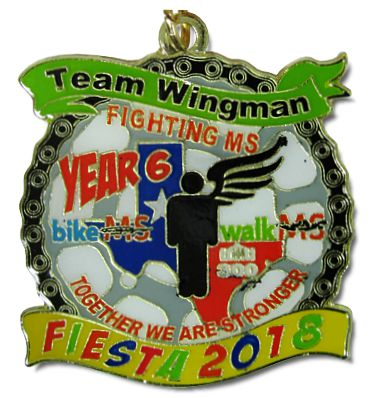 2018 National Multiple Sclerosis Society Team Wingman Fighting MS BikeMS WalkMS Custom Fiesta Medal by MTSAWARDS and FiestaMedalssa