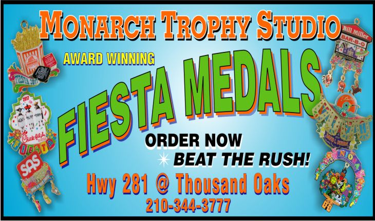 Fiesta Medal designs and production by Monarch Trophy Studio San Antonio