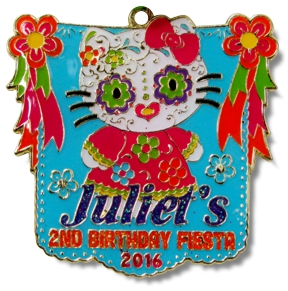 Juliets 2nd Birthday 2016 Award Winning Fiesta Medal By MTSawards.com