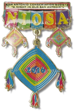 San Antonio Conservation Society Night Out In Old San Antonio 2016 Award Winning Fiesta Medal By MTSawards.com