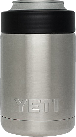 Plain Yeti Colster, but you can engrave your design at Monarch Trophy Studio San Antonio
