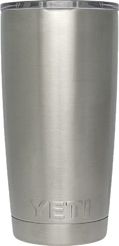 Plain 20oz Yeti Rambler Tumbler, but you can engrave your design at Monarch Trophy Studio San Antonio