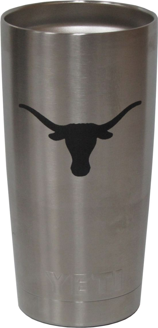 20oz UT Austin Texas Longhorns Yeti Rambler Tumbler Laser Engraving designed by Monarch Trophy Studio San Antonio