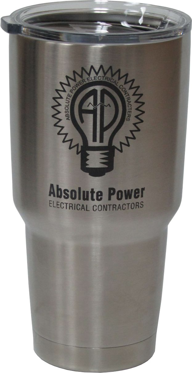 30oz AP Electric Yeti Rambler Tumbler Laser Engraving designed by Monarch Trophy Studio San Antonio