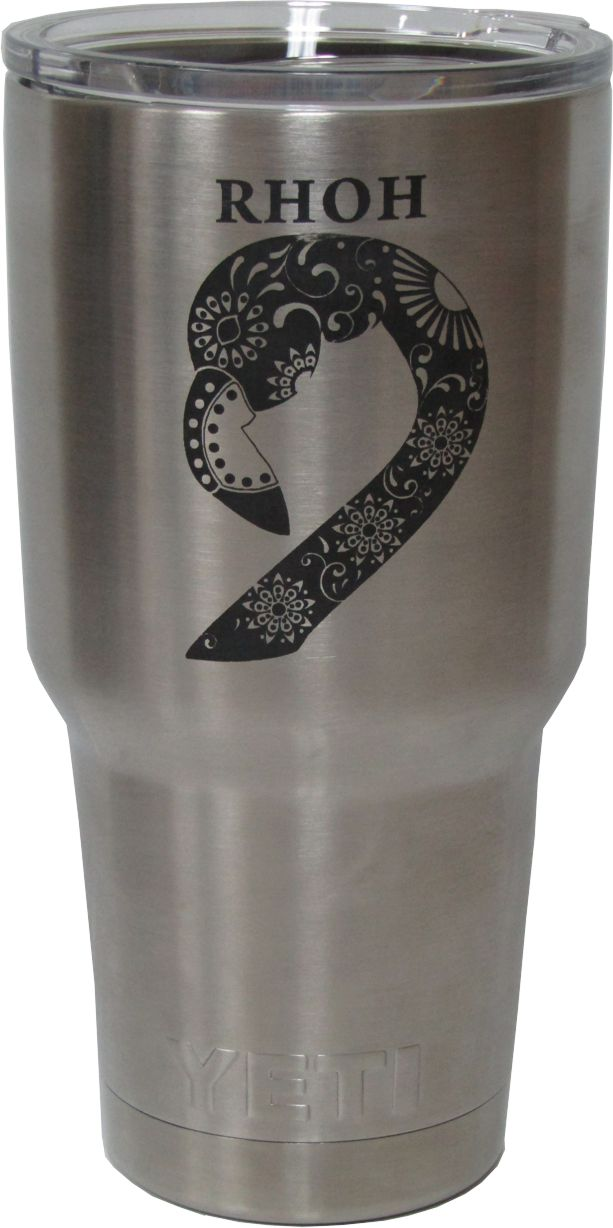 30oz Real House Wifes of Helotes Yeti Rambler Tumbler Laser Engraving designed by Monarch Trophy Studio San Antonio