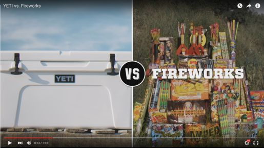 YETI VS. Fireworks Video From Youtube