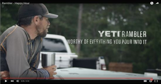 YETI Rambler Tumbler Video From Youtube