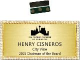 Bling Namebadge Black on Gold 1.5x3